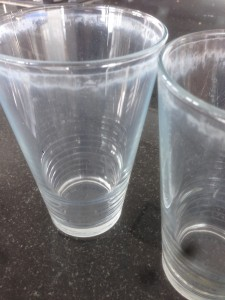 Vaatwasmachine en drinkglazen: geen lekker stel