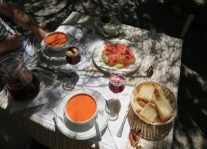 Gazpacho en sangria