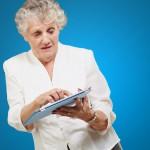 De oude dame en de iPad